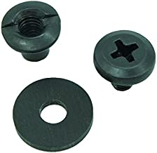 Black Chicago Screw - Binding Post Kit 1/8, 1/4, 3/8, 1/2 Open Slotted Back Fasteners + Rubber Washers, Phillips Truss Heads QuickClipPro Kydex Leather Holster Sheath
