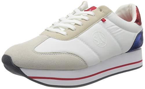 s.Oliver Damen 5-5-23612-34 Sneaker, Weiß (White Comb. 110), 40