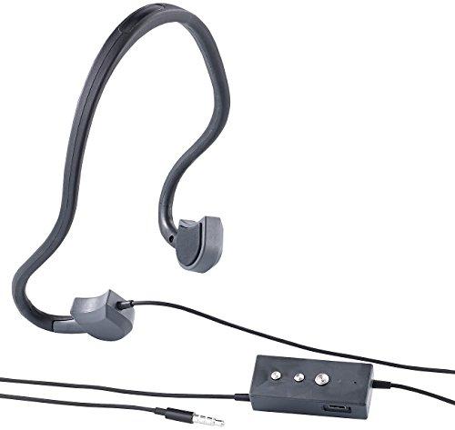 auvisio Knochenleitung Kopfhörer: Kabel-Sport-Headset BC-20 mit Bone Conduction, für Smartphone (Bone Conduction Kopfhörer)