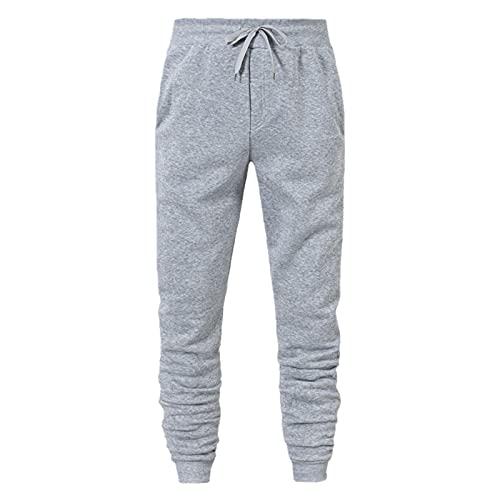 Pantalones de chándal para hombre, modernos, ajustados, para el tiempo libre, para entrenamiento, para correr, para hacer deporte, con cordón, a rayas