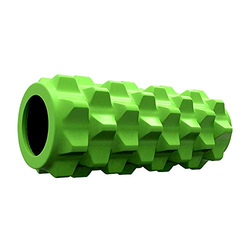 WCY Neue Spalte Yoga-Block Fitnessgeräte Pilates Foam Roller Fitness Gym-Übungen for Deep Tissue Muscle Massage Fitness Fitnessübung, ab Rolle Übung Rad yqaae (Color : Green)