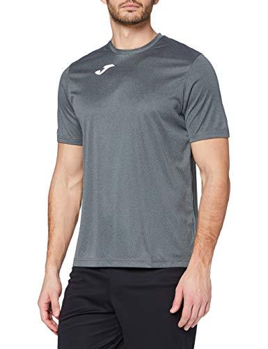 Joma Combi Camiseta Manga Corta, Hombre, Gris (Melange Oscuro), L