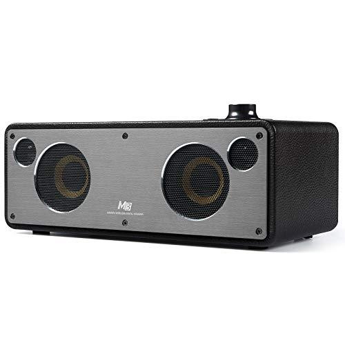 GGMM M3 WiFi Bluetooth Speaker, Smart WiFi Speaker for Streaming Music, HiFi Audio Stereo Surround Powerful Bass Speaker, AirPlay Speaker Wooden...