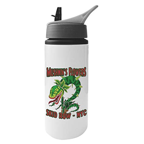 Cloud City 7 Mushniks Flowers Skid Row NYC Little Shop of Horrors Aluminium Water Bottle with Straw