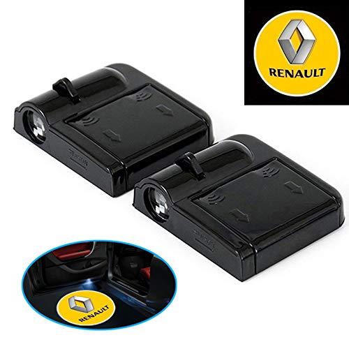 L22 Luci LED per portiera auto, 2 pezzi, senza fili, per Renault