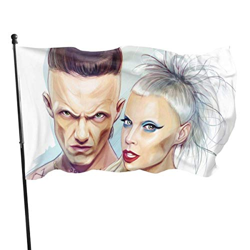 Lsjuee Die Antwoord Logo Graphic Print Flags