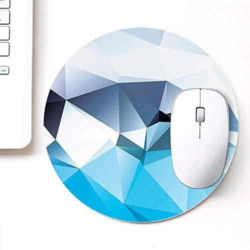 UVDesigner Gedrucktes rundes Mauspad für Laptop n Computer | Himmelweißes Polygon | Mousepad für Gamer | Gaming Mousepad
