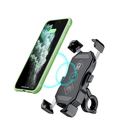 Supporto per caricatore wireless per moto, ricarica rapida, 7,5 W, 10 W, Qi, per iPhone SE 11 Pro Max X XS XR Samsung S20 Note10 S10 LG ecc.