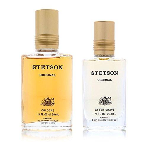 Stetson by Coty for Men 2 Piece Set Includes: 1.5 oz Cologne Splash + 0.75 oz After Shave Splash