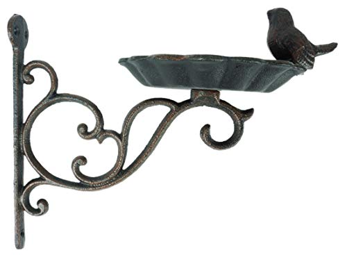 Novaliv Vogeltränke stehend hängend Wandmontage (16 cm Höhe Wandmontage)