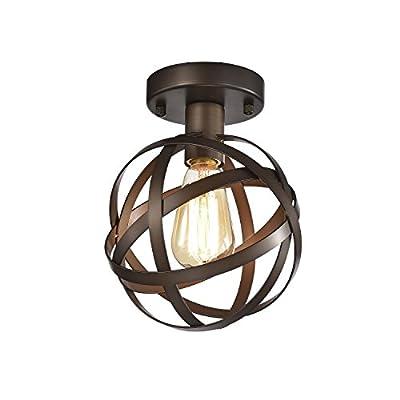 LaLuLa Flush Mount Light Fixture Mini Bronze Chandelier 1 Light Hallway Ceiling Light