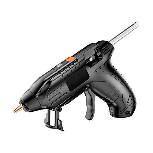 Pistolas de pegamento de fusión en caliente sin cable, pistola de pegamento...