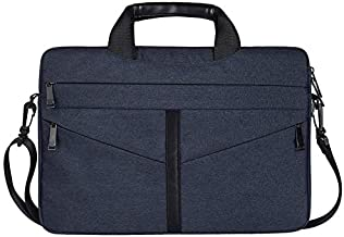 DJ04 Laptop Bag Liner Package Portable Briefcase Men And Women Polyester Fiber & Nylon Telescopic Handle - Navy Blue 14.1 inches/15.4 inches