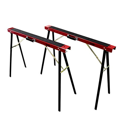 TOMAX Portable Folding Sawhorse Heavy Duty 275lb Weight Capacity Each Twin Pack