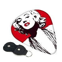 マリリン・モンロー レッド ギターピック 6枚セット 3種厚さ エレキギター ベース用ピック ウクレレ ギター ABS素材 エレクトリック アコースティック 弦楽器 ピック