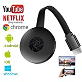 ZYLS Wireless WiFi Display para Nuevo Google Chromecast Dongle HDMI 1080P WiFi Stick De TV para Chromecast/Android/Smartphone/PC/TV/Monitor/Proyector