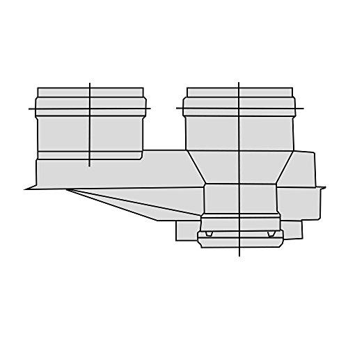 Beretta 1101079 Sdoppiatore Aria-Fumi Diametro per Caldaie a Condensazione, Grigio