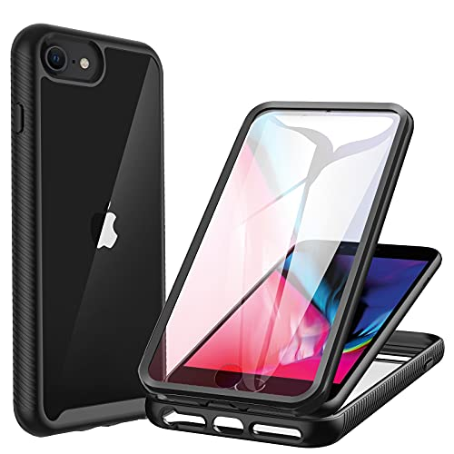 CENHUFO Coque Compatible avec iPhone SE 2020, Coque iPhone 8/7/ 6S/ 6, Antichoc Housse avec Protège-écran, 360 Degrés Full Body Protection Etui...
