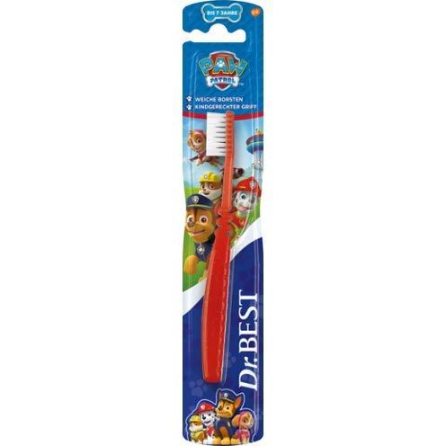 Dr.BEST Paw Patrol Zahnbürste, Weich (1 Stück), weiche Borsten und kindgerechter Griff