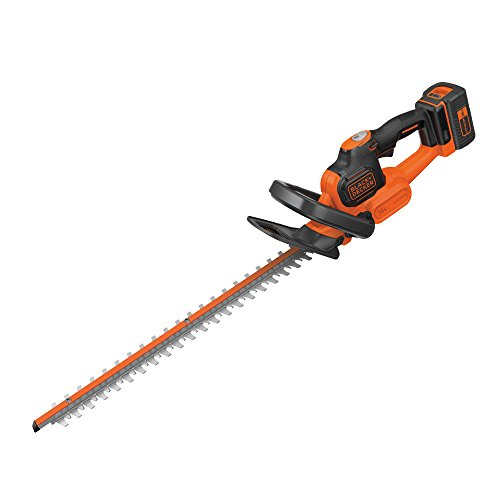 BLACK+DECKER GTC36552PC-GB Cordless Anti-Jam Hedge Trimmer with 2.0 Ah Lithium Ion Battery, 36 V, Orange