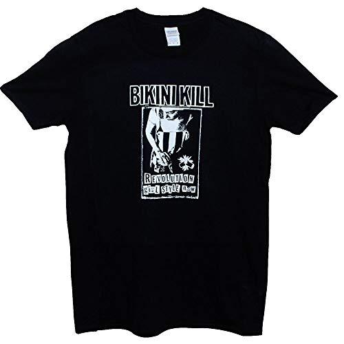 Bikini Kill T Shirt Punk Rock Riot Grrrl L7 Slits Feminist Band Men's Tee Black M