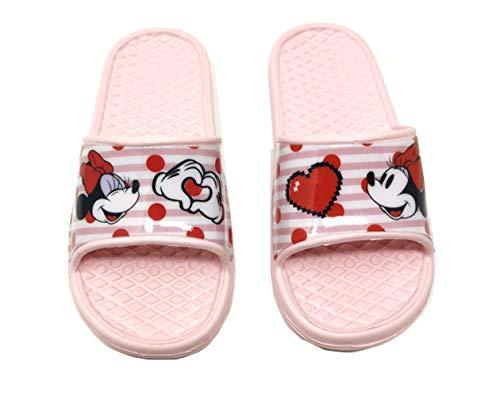 Minnie Mouse - Badelatschen Sommer Hausschuhe Kinder Pantoletten Duschschuhe Badeschuhe rutschfeste Sandalen Pantoffeln Schlappen Slide Slippers Schuhe P (30/31 EU)