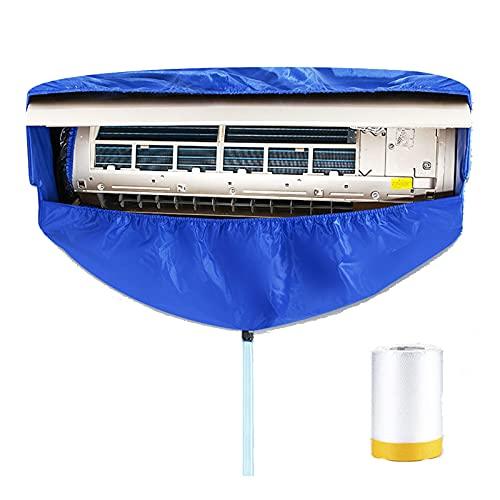GRTBNH Kit di Copertura per la Pulizia del Condizionatore d'Aria Montato a Parete, Borsa Protettiva per Il Lavaggio dell'Aria Condizionata Divisa con Tubo dell'Acqua e Piastre Supporto su Due Lati