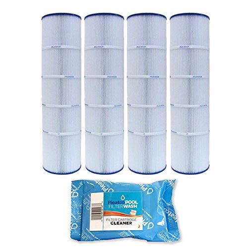 Pleatco 4 Pack Cartridge Filter PJAN115PAK4 Pack of 4 Jandy CL460 A0558000 w/ 1x Filter Wash