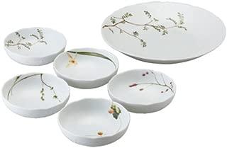 NARUMI(ナルミ) 食器セット 里花暦(さとはなごよみ) 花柄 6個セット 電子レンジ温め対応 日本製 40912-33130