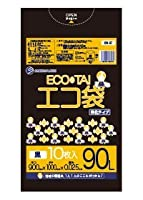 ゴミ袋 90L 900x1000x0.025厚 黒 10枚x40冊/箱 HDPE素材 エコ袋