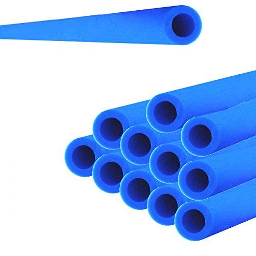 Andreas Dell 12x Trampolin Schaumstoff Rohre Polster 92cm für 6 Stangen Sicherheitsnetz Netz