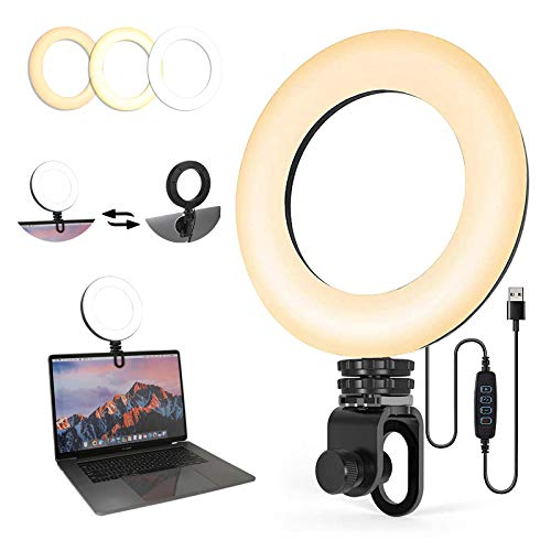 KYCC Video Conference Lighting Kit Computer Laptop Light for Remote Working Learning Zoom Call Lighting Webcam Lighting YouTube TikTok Live Streaming Make Up