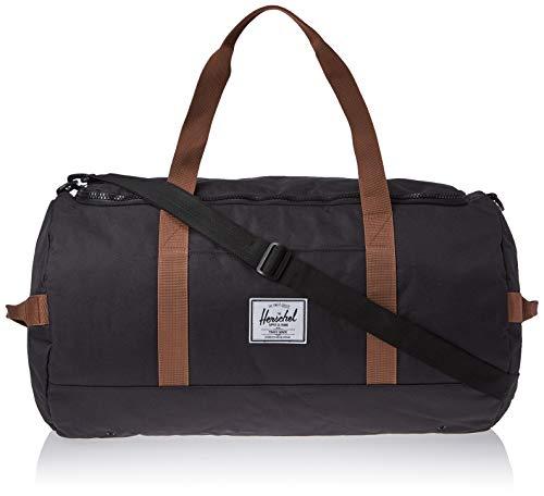 Herschel Sutton Duffel Bag, Black/Saddle Brown, One Size