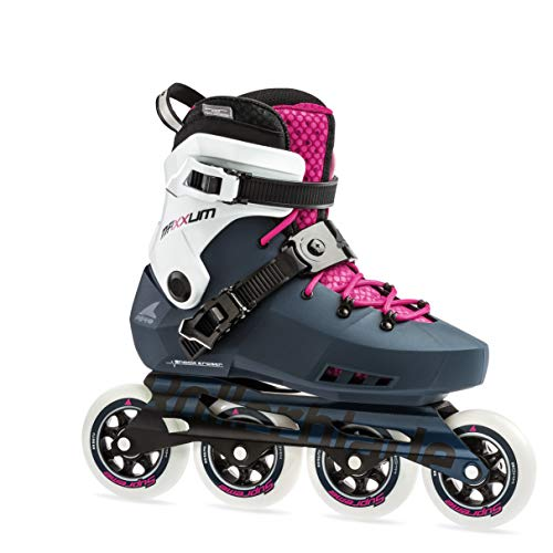 Rollerblade Maxxum Edge 90 Womens Adult Fitness Inline Skate, Sapphire and Raspberry, Premium Inline Skates, US Size 7