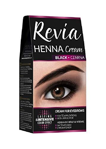 Revia Henna Cream Profi Augenbrauenfarbe Wimpernfarbe Bartfarbe Augenbrauen Make Up Farbe Schwarz...