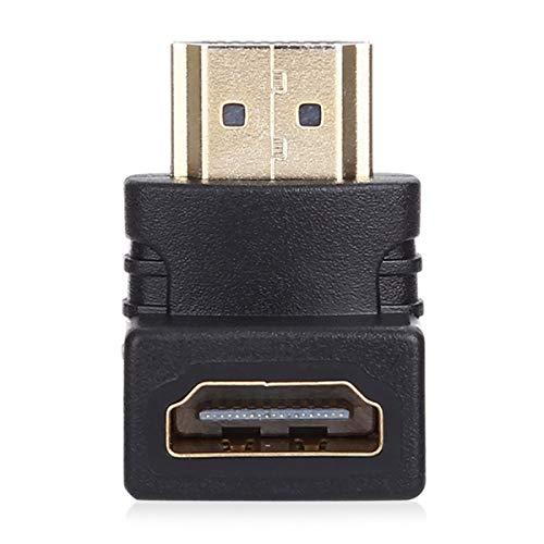 Nihlssen Adaptador de Cable HDMI Macho a HDMI Hembra convertidor 4k * 2k Extensor de ángulo de 90 Grados para proyector de computadora HDTV 1080P