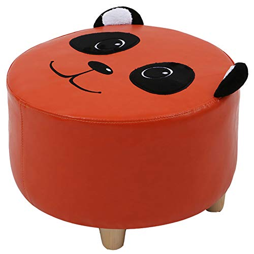 ZHAOYONGLI Cartoon Children Stool Creative Animal Footstool Home Round Stool Solid Wood Step Stool Chair Bench (Color:red,Size:40x25cm)