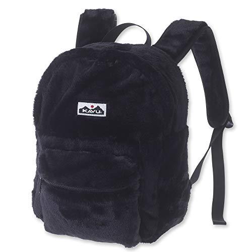 KAVU Fuzz Cub Mini Backpack Fuzzy Bag for School Kids and Travel - Black