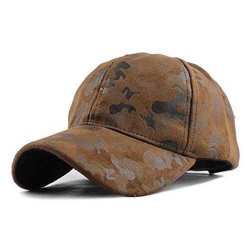YDXC Gorra de béisbol con patrón de Camuflaje para Hombres y Mujeres Estilo Militar Snapback Ajustable Aplicar para Correr, Pescar, etc.-F224Camouflage_Brown_Adjustable