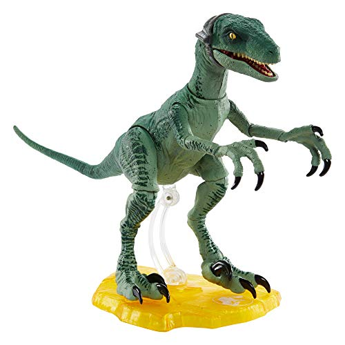Jurassic World Amber Collection Velociraptor Delta 6-in/15.24-cm Collectible Dinosaur Action Figure with Movie-Authentic Detail Movable Joints & Figure Display Stand; for Ages 8 Years & Up
