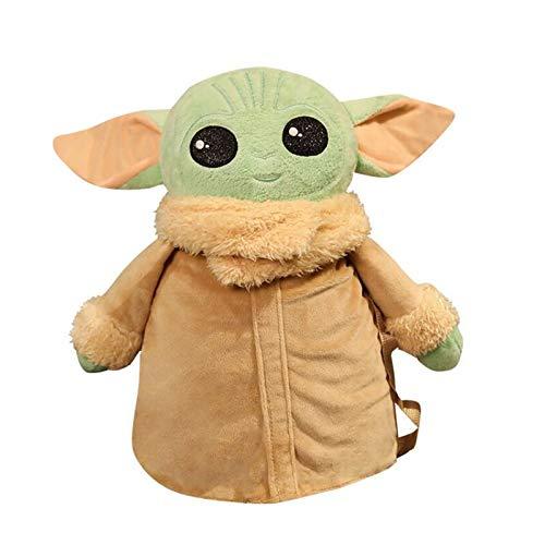 Neaer Yoda Star Wars The Mandalorian Baby Yoda Bolsas de peluche para cosplay Mochila de hombro de juguete (color: A)