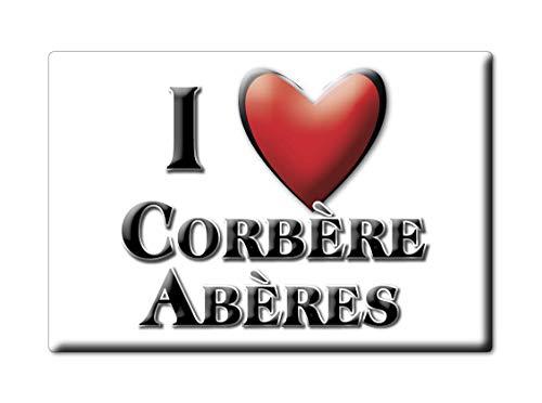 Enjoymagnets CORBÈRE ABÈRES (64) Souvenir IMANES DE Nevera Francia Basse Normandie IMAN Fridge Magnet Corazon I Love