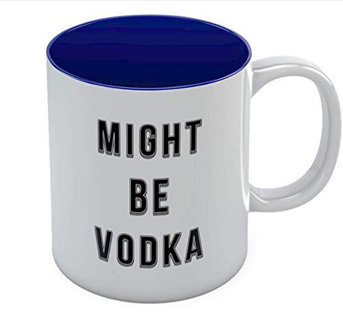 Mogelijk Wodka Keramische koffiemok - Grappige Office Theekop - Nieuwigheid Stevige Mok Blauw.