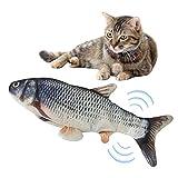 Katzenspielzeug Fisch Elektrisch Beweglich 30cm Jump Automatische Katzenminze Fisch Katze Interaktive Spielzeug Simulation Fisch Für Haustier Spielen USB Plüsch Wiederaufladbare Kauspielzeug