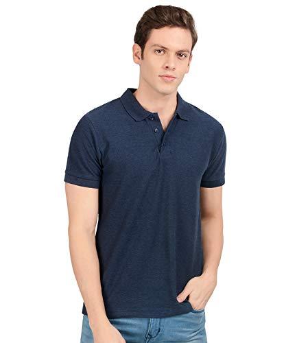 Scott International Men's Cotton Regular Fit Solid Polo Neck T-Shirt
