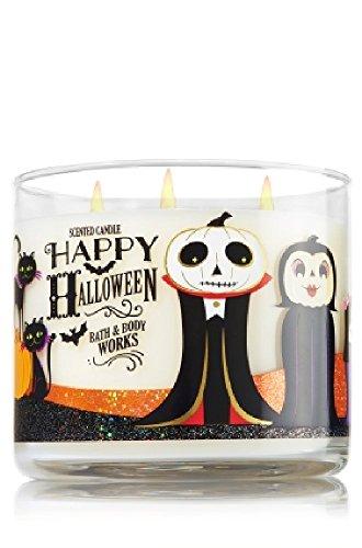 PHERAL FIT Bath & Body Works 3-Wick Candle Happy Halloween 2016- Sweet Cinnamon Pumpkin