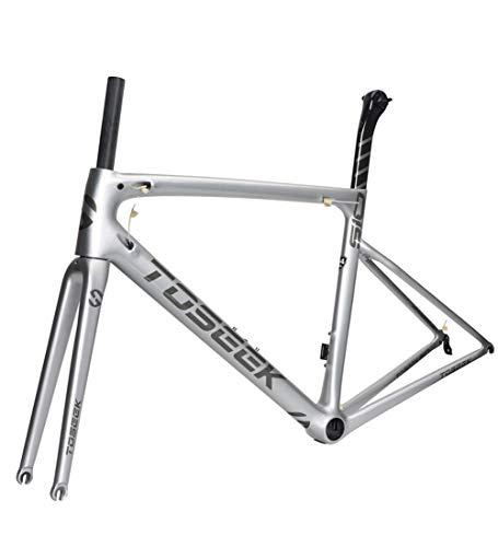 Rennrad Rahmen Carbon Fahrradrahmen Vollcarbon Rahmen 700C Carbonrahmen Sitzrohr Vordergabel Straße Rahmen Fahrradständer 44/49/52/54 / 56cm,56cm(sendbowl)