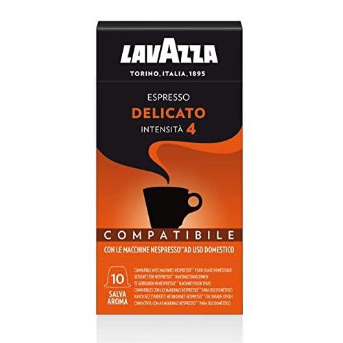 Lavazza 100 Capsule Compatibili Nespresso, Espresso Delicato, 10 Confezioni da 10 Capsule