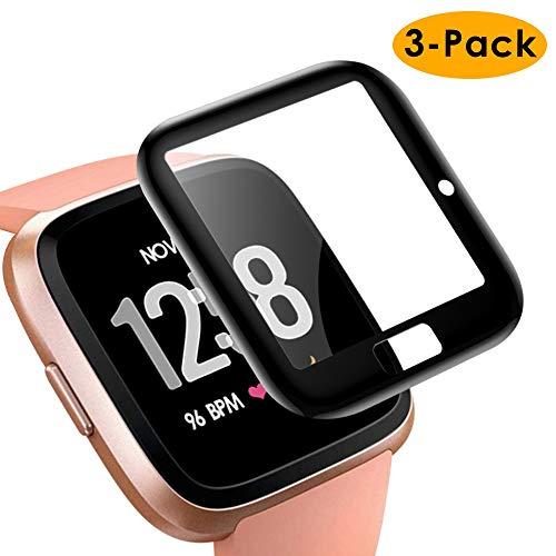 KIMILAR Schutzfolie Kompatibel mit Fitbit Versa/Versa Lite/SE Displayschutzfolie (Nicht für Fitbit Versa 2) [3 Stück], 3D Vollabdeckung Panzerglas Folie für Fitbit Versa Special Edition Smartwatch