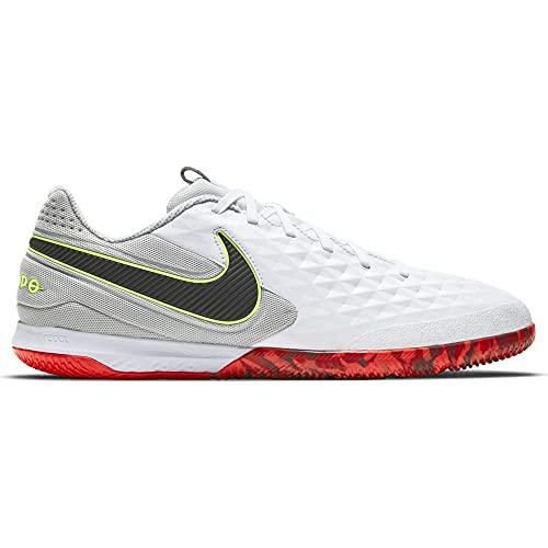 Nike React Legend 8 Pro IC, Zapatillas de ftbol Unisex Adulto, White Black Grey Fog BRT Crimson Ghost Green, 37.5 EU